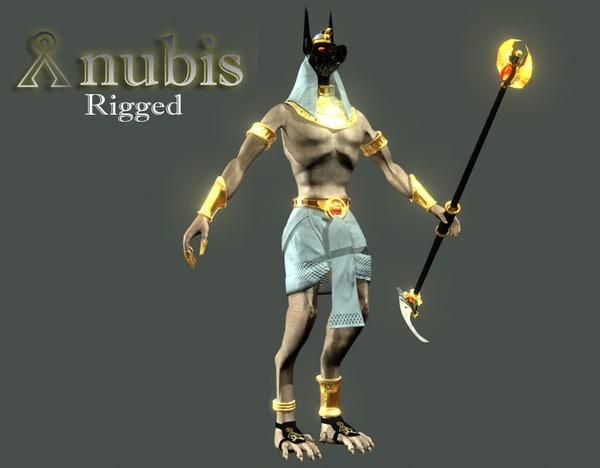rigged anubis 3d model
