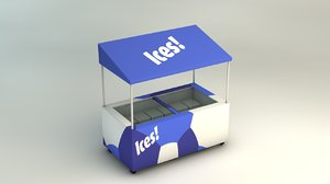 3d mobile drinks cart ice cream