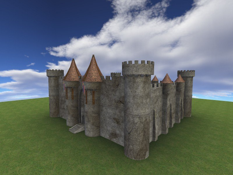 free old castle 3d model