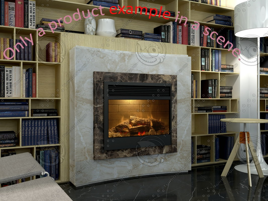 3d model of fireplace 16