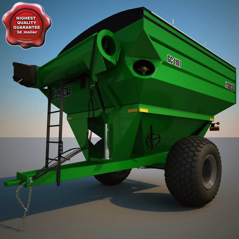 3d model farm grain cart frontier