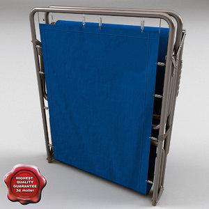3d model of folding cot closed
