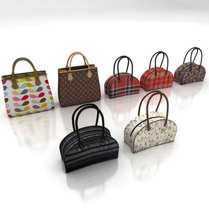 handbag selection 3d 3ds