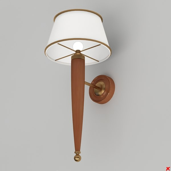 3d model of wall lamp