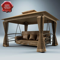 lightwave luxor swing seat gazebo