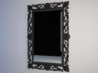 Mirror in wood frame