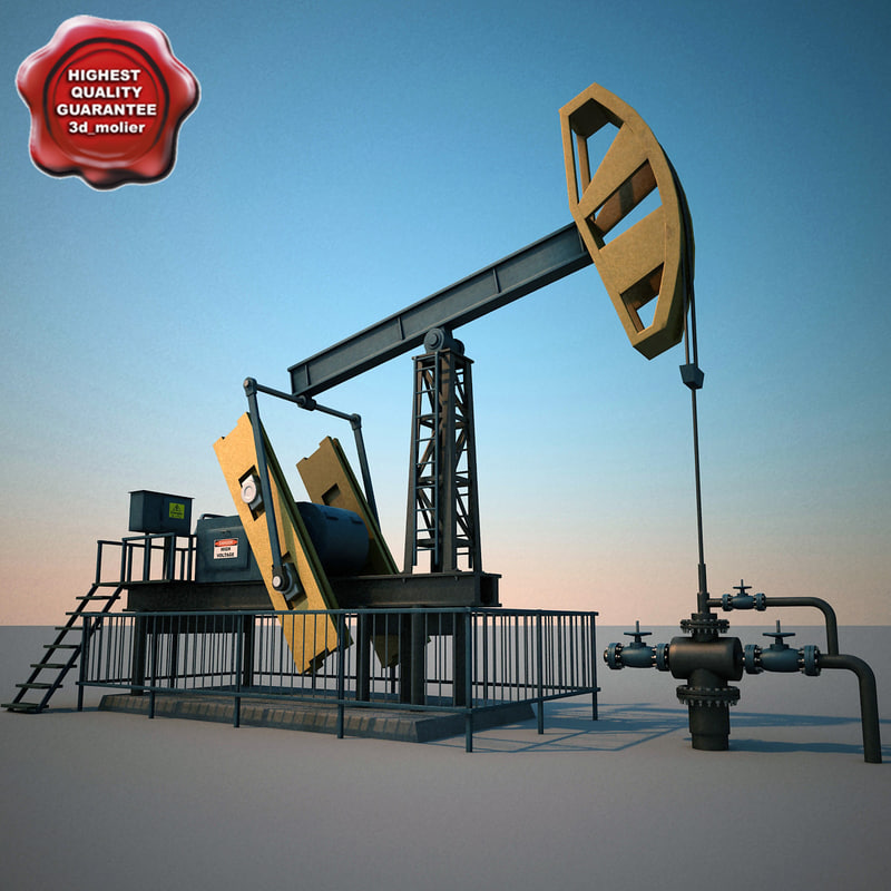 3d oil pump pumpjack v2