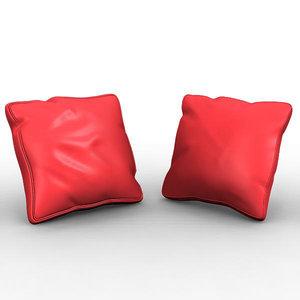 cushion pillow 3d obj