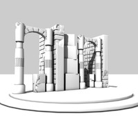 structure ancient column 3d model