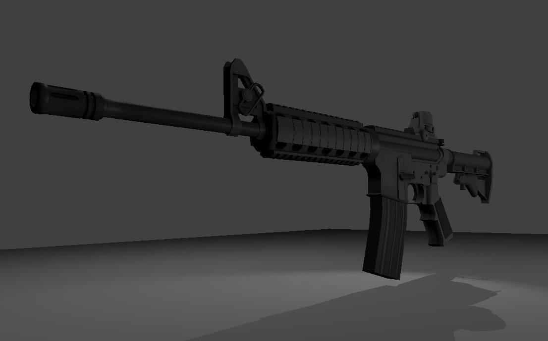 m4a1 assault rifle blend free