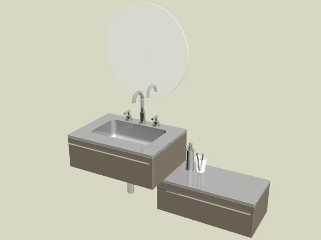 3d bathroom set 03 model