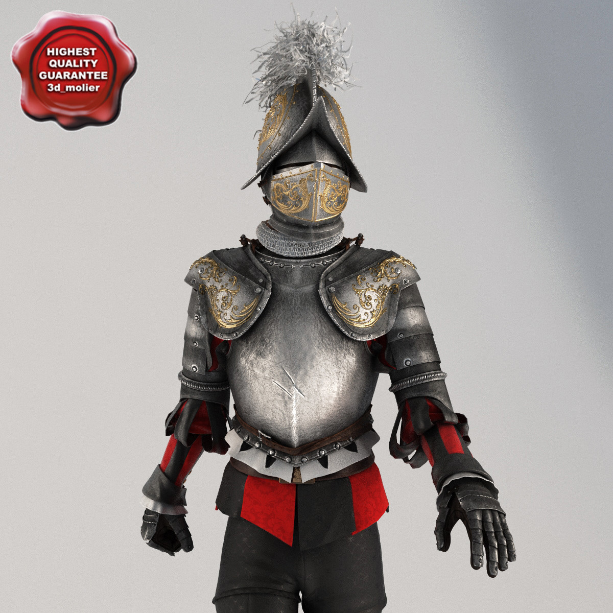 swiss guardsmen vatican knight 3d model