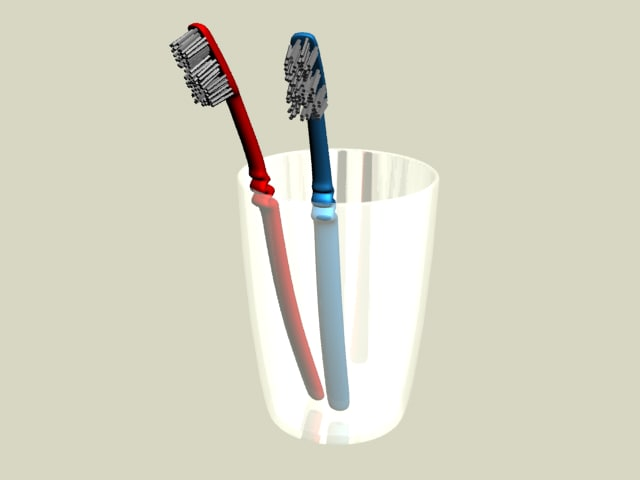 3d model tooth brush toothbrush