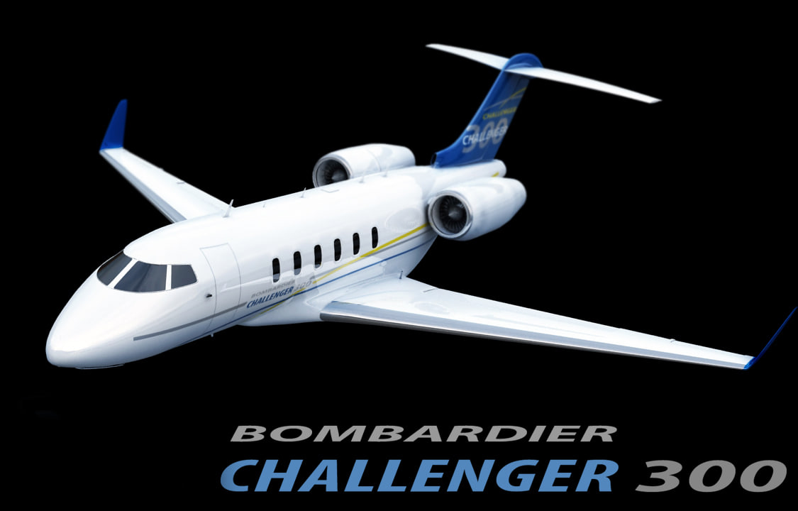 bombardier challenger 300 3d model