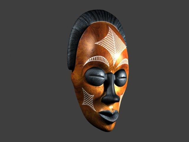 african mask 3d model