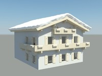 3d model of traditionel house