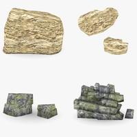 stones rock 3d max