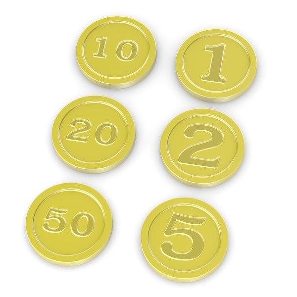 3ds cartoon coins