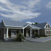 3d interior exterior house