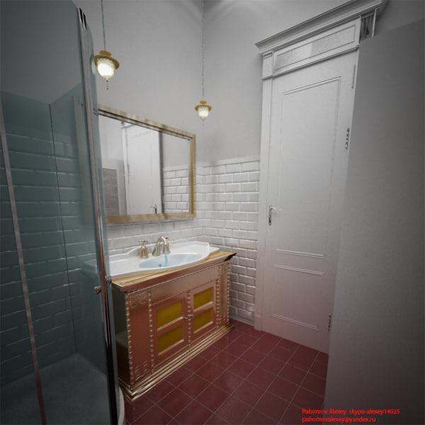 bathroom classic stile 3d model