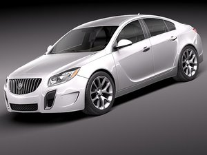 3d buick regal 2012 sedan model