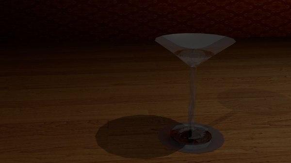 martini glass 3d 3ds