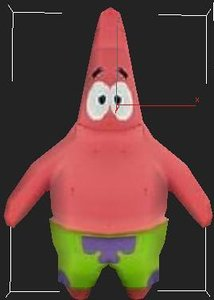 3d patrick cartoon model