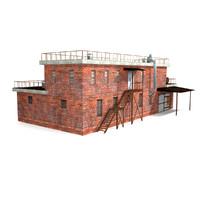 3dsmax industrial building