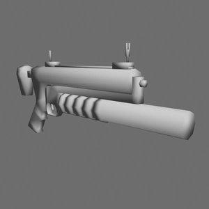 free grenade launcher 3d model