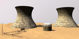 3ds max cooling tower nuclear