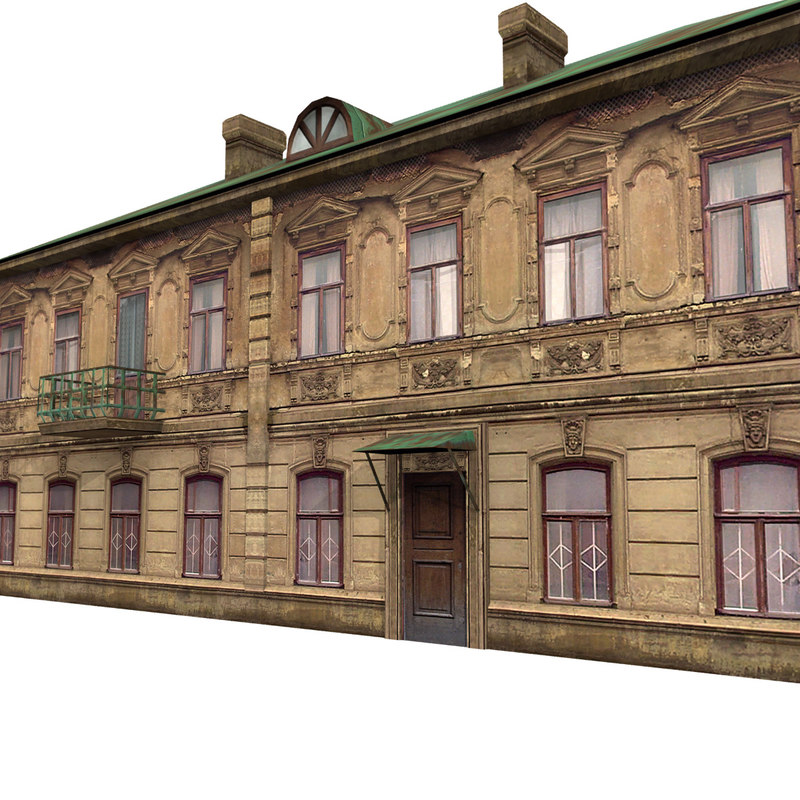 3d old victorian house model