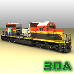 emd sd22eco locomotive engine diesel 3d max