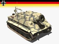 3d german vi tiger sturmmörser model