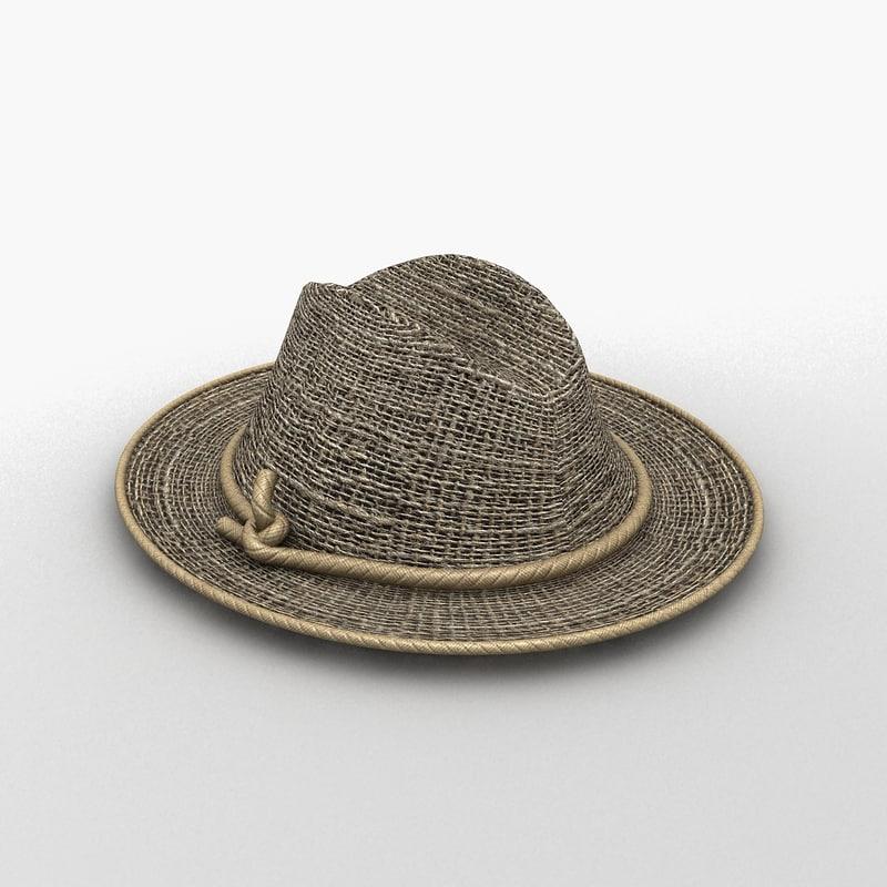 3d straw hat