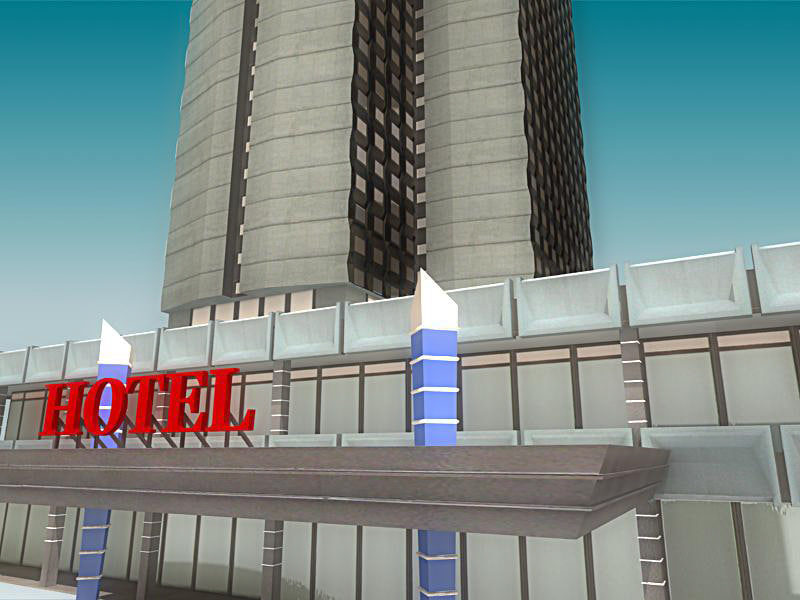 3ds max hotel building