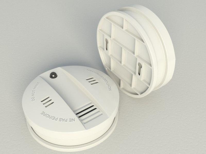 smoke alarm flammex 3d max
