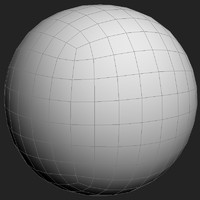 3d perfect sphere mesh - model