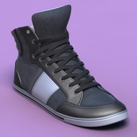 Sports shoes #06 grey black