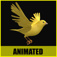 canary flying animation 3ds