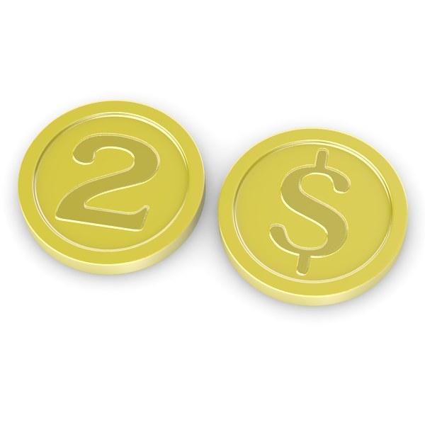 cartoon coin 3d model