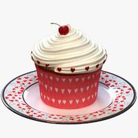 valentine cupcake obj