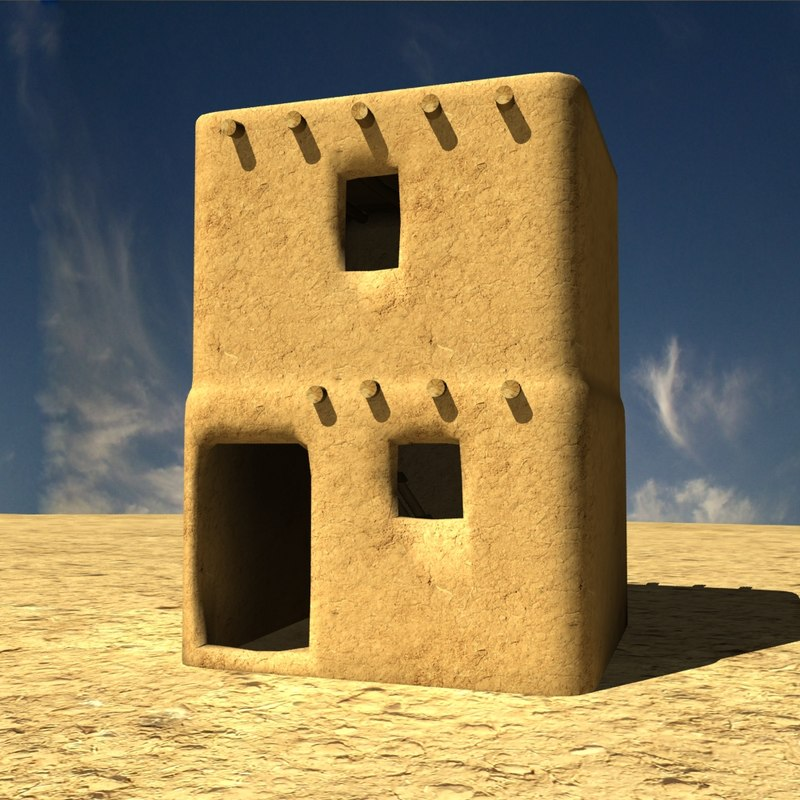 3d afghanistan house village model