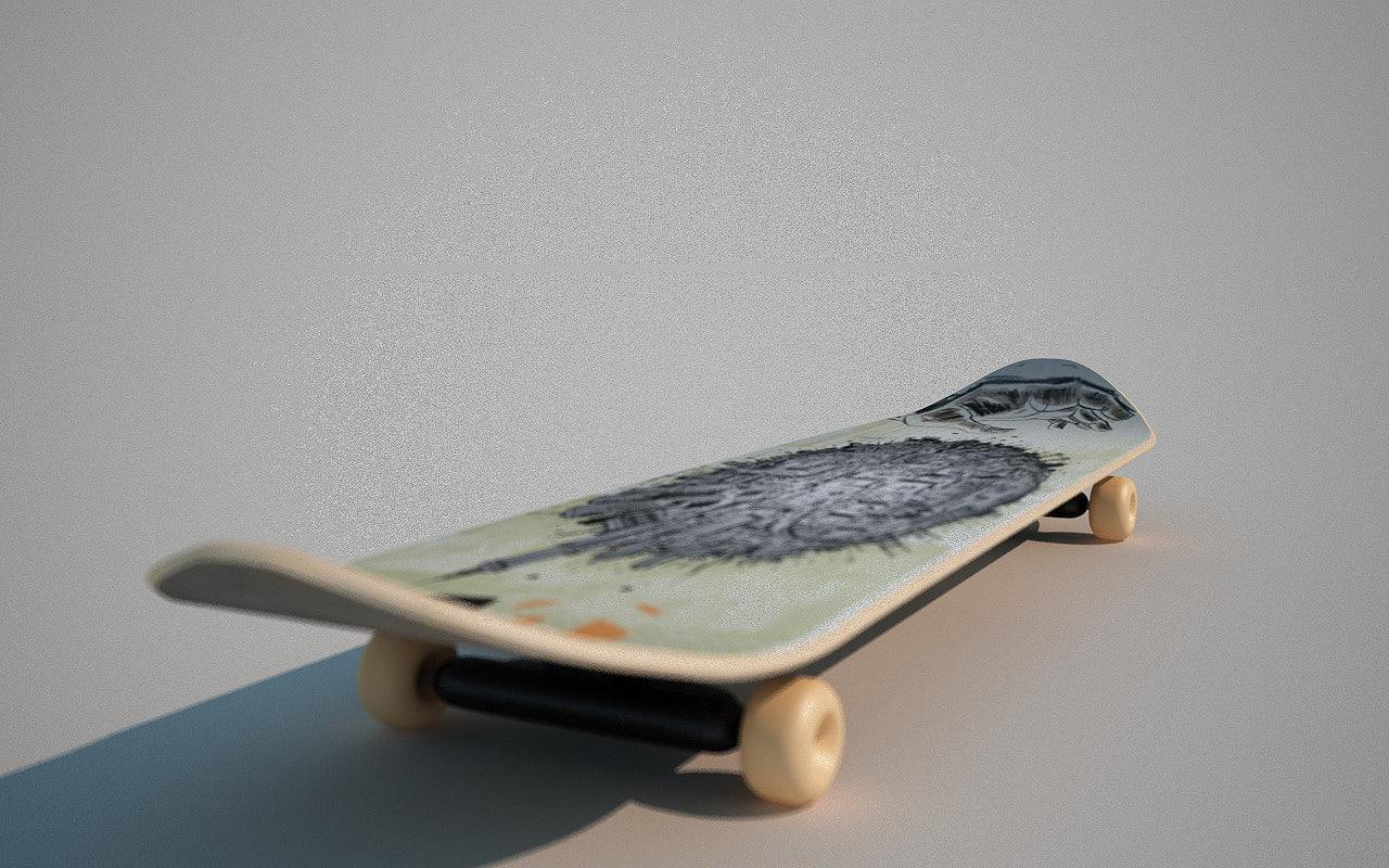 realistic skate 3d model