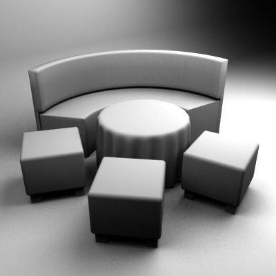chill set table 3d max