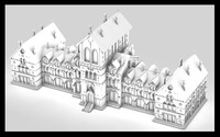 3d mansion manor old building