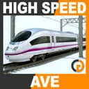 High Speed Train - AVE Siemens Velaro with Interior