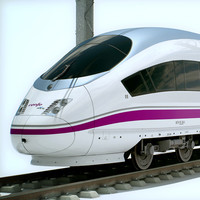 High Speed Train - AVE Siemens Velaro with Interior