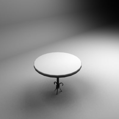 banana leg table 3d model