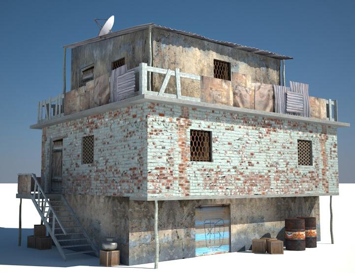3d model slum house