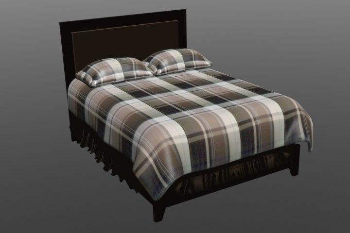 bed 3d 3ds